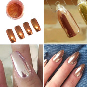 DDLBiz Sexy & Fashion Rose Gold Nail Mirror Powder Glitter Chrome Powder Nail Art Decoration