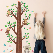 Highpot New Jungle Monkey Tree Kids Baby Nursery Wall Sticker Mural Decor Decal Removable