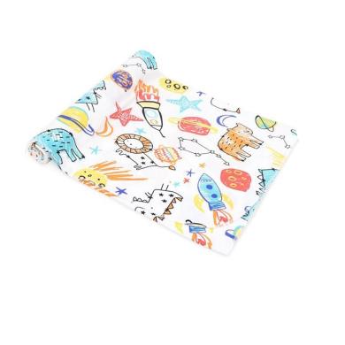 CuteOn Soft & Breathable Unisex Baby Cotton Swaddling Large Versatile Blankets Rocket