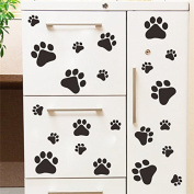 JD Million shop cute funny Dog Cat Paw Print kids room home decal Wall Stickers DIY cabinet door Decor Food Dish Kitchen House Bowl Car Sticker