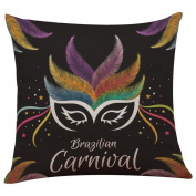 TOPUNDER Happy Halloween Linen Throw Pillow Case Cushion Cover Home Sofa Decor New