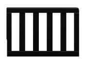 Storkcraft Toddler Guardrail, Black