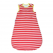 Grobag Deckchair Stripe, 100% cotton Fabric Baby Sleeping bag For Silky Smooth Comfort 1.0 Tog