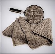 SonnenStrick 100% Organic Cotton Baby Blanket Made in Germany (100cm x 90cm ) Tan