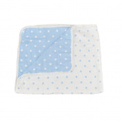 SHELLBOBO 6 Layers Multi Use Blanket Baby Muslin Swaddle Geometric Polka Dot Print