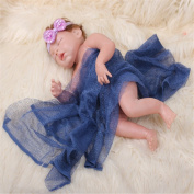 GBaoY Newborn Baby Photography Props Long Ripple Wrap Blanket Baby Wrap Blanket DIY Infant Photos Navy