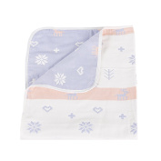 SHELLBOBO Baby Pure Cotton Muslin Bath Towel Swaddle Blanket Double-side Different Pattern