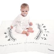 Newborn Baby Swaddle Blanket Birthday Photography Thin Blanket Milestone Infant Kids Photo Props