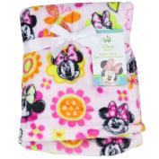 Disney Minnie Mouse Baby Flannel Fleece Plush Blanket. Pink. Size