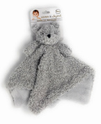 Blankets and Beyond Grey Fuzzy Bear Baby Security Blanket