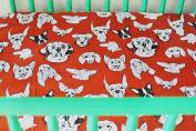 Oliver + Kit - Three Dog Night - Bamboo Crib Sheet