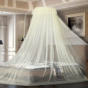 Anti-mosquito-borne mosquito nets can be adjusted with a high degree of encryption ( Colour : Yellow , Size : 1.8m