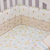 Nurture Imagination Tan Twill Cut Dots Airflow Crib Safety Bumper