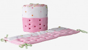 Nurture Imagination Candy Pink Cut Dots Airflow Crib Safety Bumper