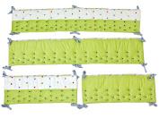 Nurture Imagination My ABCs Green Cut Dots Airflow Crib Safety Bumper