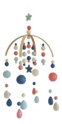 Tik Tak Design Co. Baby Crib Mobile – 100% NZ Wool Coloured Felt Ball Mobile for Your Boy or Girl Babies Bed Room – Designer Colours to Match Your Nursery and Delight Your Child