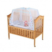 KateDy Baby Nursery Bed Crib Mosquito Net Netting,110cm x 70cm x 27.15cm Play Tent House Crib Bed Zippered Mosquito Net Tent with Stand,Home Use Anti Mosquito Bites for Baby Toddlers Kids