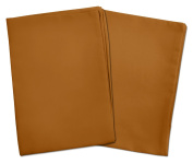 2 Brown Toddler Pillowcases - Envelope Style - For Toddler and Travel Pillows Sized 13x18 and 14x19 - 100% Cotton With Sateen Weave - Machine Washable - 2 Pack