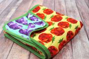 Oliver + Kit - Veggie Might - 8-Layer Cotton - Reversible Cuddle Blanket