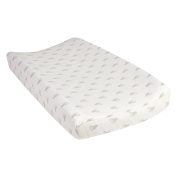 Trend Lab Grey Stag Silhouettes Deluxe Flannel Changing Pad Cover