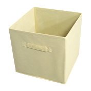 Ben & Jonah Collection Collapsible Storage Bins - Tan - 4 Bins Per Pack