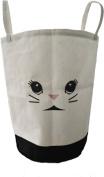Animal Bunny Laundry Hamper, Kids/Baby/Nursery/Toy/Clothing Storage Basket, Cotton, 20''x13'' Large Folding Waterproof, Drawstring Cover