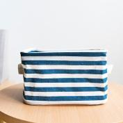 Saumota New Arrival Fabric Comestic Pouch Storage Organiser Storage Basket-Dark Blue