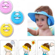 Arpoador Children Shampoo Baby Shower Cap Baby Bath Cap Adjustable size,Children Kids to Keep the Water Out of Their Eyes,Face and Ears,Random Colour