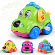 Rawdah Baby Kids Clockwork Funny Toy Cartoon Puppy Clockwork Car Toys