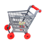 MagiDeal Mini Plastic Supermarket Shopping Hand Push Trolley Cart for Toddler/Baby Role Play Pretend Toy