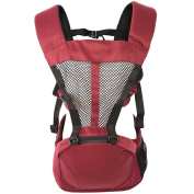 BOZEVON Newborn Baby Infant Backpack Sling Front Back Baby Comfortable Carrier, Red