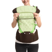 BOZEVON Newborn Baby Infant Backpack Sling Front Back Baby Carrier, Green