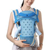 BOZEVON Comfortable Baby Carrier Backpack Baby Sling Wrap, Blue