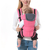 BOZEVON Carriers Backpack Seat Best for Newborn or Child, Pink/Have Belt