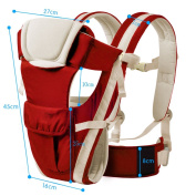 BOZEVON Backpack 3 in 1 Functional Baby Carrier Backpack for Women, Red