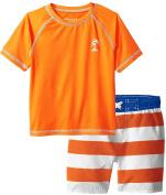 iXtreme Baby Boys Swimwear Palm Tree Rashguard Tee Board Trunk Swim Shorts Set