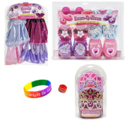 Melissa & Doug Dress-Up Tiaras, Shoes and Tutu Set (ages 3-5/6) with Dimple Ring and Bracelet