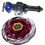 Metal Fusion Starter Phantom Orion B:D 4D High Performance Battling Top BB-118(BB118) With Launcher Game Complete Set + BeyLauncher L-R Double String Power Left & Right Spin + GRIP BB-115