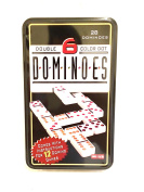 Double Six Dominoes Colour dot dominoes Family Fun Math skills fun for the Kids or the kid in you