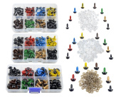 TOVOT 240 PCS Colourful Safety Eyes 8 mm- 12 mm Diameter with Washer for Bear, Doll, Puppet, Plush Animal