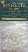 RINGLETS Craft PACK of 1 Curly DOLL HAIR Colour WHITE Synthetic Covers 0.09sqm