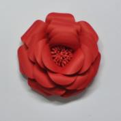 DIY flower kit card stock flower kit 1 mini flower re-entry red