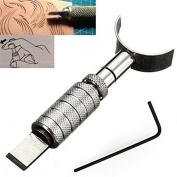 LIPOVOLT DIY Handmade Adjustable Leather craft Leather Carving Swivel Blade Cutter Tools