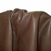 Brown Pebble Faux Vegan Leather by the yard Synthetic Pleather 0.9 mm Nappa 2 yards (72 inch wide x 36 inch long) Soft smooth vinyl Upholstery (2 yards
