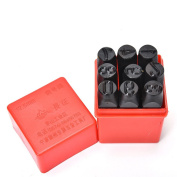 9pcs 12.5 mm Stamps Number Set Punch Steel Metal Die Tool Case Home Arts Craft