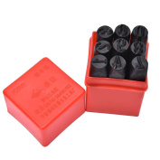 9pcs 10 mm Stamps Number Set Punch Steel Metal Die Tool Case Home Arts Craft