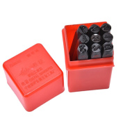 9pcs 6 mm Stamps Number Set Punch Steel Metal Die Tool Case Home Arts Craft