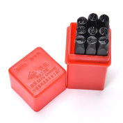 9pcs 4 mm Stamps Number Set Punch Steel Metal Die Tool Case Home Arts Craft