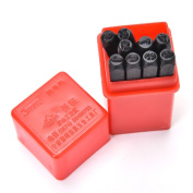 9pcs 3 mm Stamps Number Set Punch Steel Metal Die Tool Case Home Arts Craft