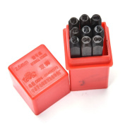 9pcs 2.5 mm Stamps Number Set Punch Steel Metal Die Tool Case Home Arts Craft